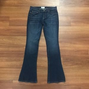 Current/Elliot Flare Dark Wash Jeans
